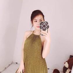 Đầm xòe ánh kim