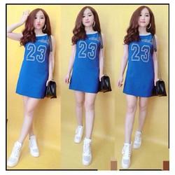 Đầm suông thể thao in hình số 23