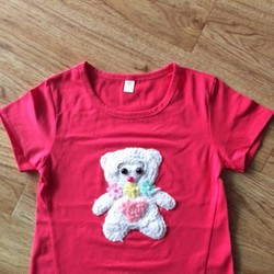 Áo thun hồng sen đắp gấu size đại