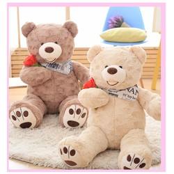 Quà tặng thú bông gấu costo cầm hoa hồng 60cm