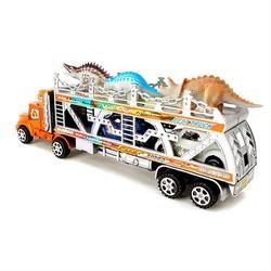 Mô hình xe tải container chở thú và ô tô loại lớn