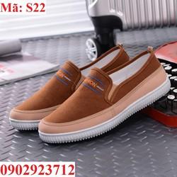 Giày Lười Nam Da Lộn Hàn Quốc Siêu Bền  - S22