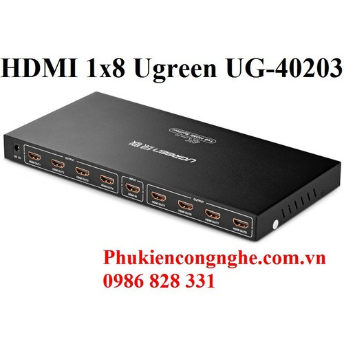 Bộ chia HDMI 1 ra 8 full HD Chính hãng Ugreen UG-40203 - 4163692 , 4945125 , 15_4945125 , 1390000 , Bo-chia-HDMI-1-ra-8-full-HD-Chinh-hang-Ugreen-UG-40203-15_4945125 , sendo.vn , Bộ chia HDMI 1 ra 8 full HD Chính hãng Ugreen UG-40203