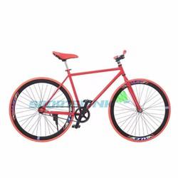 Xe đạp Fixed Gear Single - Đỏ phối đen
