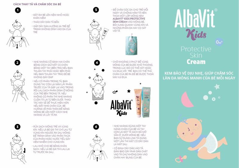 Kem hăm tã, bảo vệ da bé AlbaVit Kids Protective Skin Cream 1