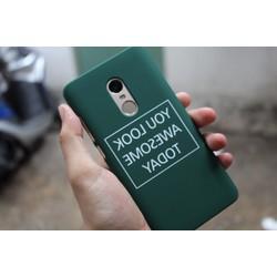 Ốp nhựa cứng in hình cho Xiaomi Redmi Note 4