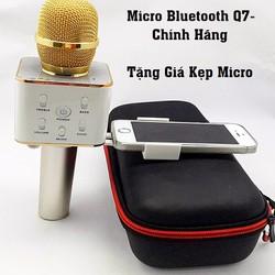Micro bluetooth Tuxun Q7 hát karaoke điện thoại kèm loa 3 trong 1
