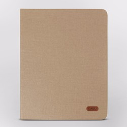 Bao da iPad 2-3-4 hiệu Kaku Silk Series màu vàng nhạt