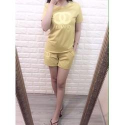 Set quần short áo in chanel hàng qc  - A28973