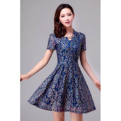 Đầm Ren Xoè Ánh Kim Roza