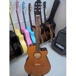 Acoustic guitar Viet Nam DVE70J màu vàng