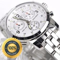 Đồng hồ nam cao cấp PRC trắng chạy đủ 6 kim chống xước, chống nước
