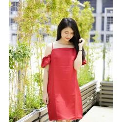 Đầm 2 dây bẹt vai Chiba Shop