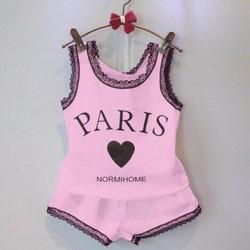 Bộ ba lỗ bé gái Paris cực yêu cho bé 1-8 tuổi