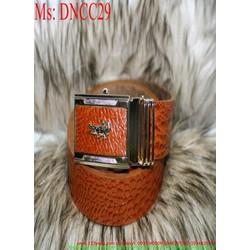 Thắt lưng nam mặt cá sấu và dây dập vân nổi sang trọng DNCC29