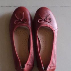 giày búp bê da thật