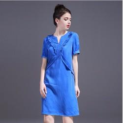 Đầm suông ngắn tay thời trang cao cấp 2017 - ZY1709