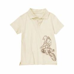 Áo polo bé trai Crazy Dirt Biker Polo Shirt - Size 4, 5-6, 8
