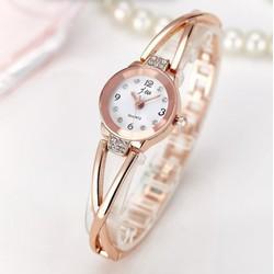Đồng hồ nữ thời trang jw Mặt trắng dây vàng