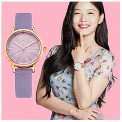 TUYỆT ĐẸP Đồng hồ nữ Julius Hàn Quốc dây da JU1106 Tím