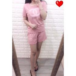 Set quần short áo in chanel hàng qc  - A28972