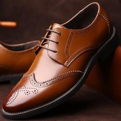 Giày da bò cao cấp, mầu nâu