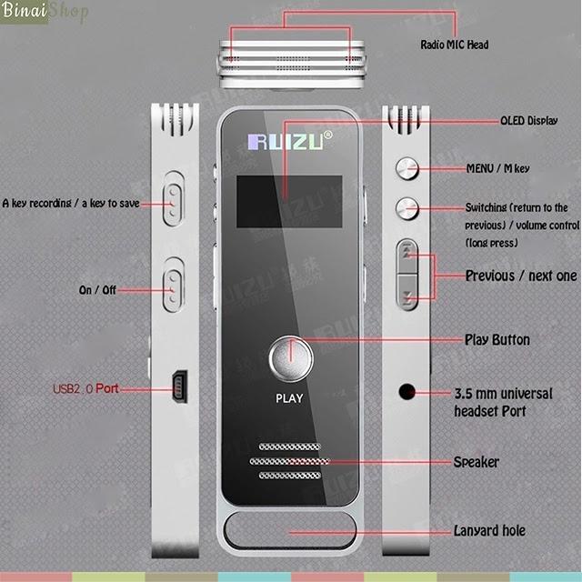 Máy ghi âm HD Recorder Ruizu X01 9