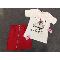 Set Florida gồm 1 chân váy và 1 áo phông