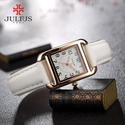 Đồng hồ nữ JULIUS chính hãng dây da JU1180 Trắng