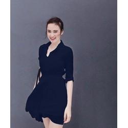 Đầm Voan Cổ Sơ Mi Xinh Như Phương Trinh