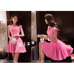Đầm xòe hồng tay con dự tiệc xinh xắn - AV5381