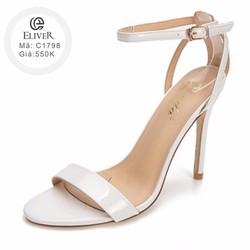 Giày cao gót đế nhọn hở mũi có quai_C1798