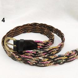 Dây nịt thắt lưng da, đan bện thời trang, bản 2.1cm cho nữ. K8-D01