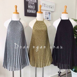 Đầm yếm nhũ kim tuyến