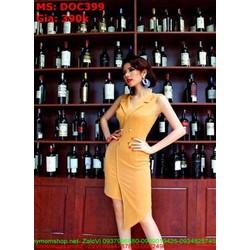Đầm body thiết kế dạng vest chéo sang trọng phong cách DOC399