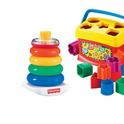 Couple Fisher-Price Baby First Blocks and Rock Stack Bundle