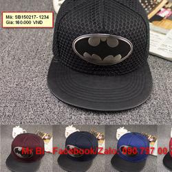 Nón Snapback, nón Hiphop logo Batman ấn tượng, cực ngầu, hàng độc
