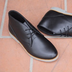 Giày Timberland Thailand cổ lửng đen trơn
