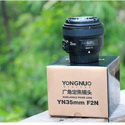 Ống kính Yongnuo 35mm f2.0 for nikon tặng khăn da cừu