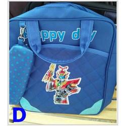 Túi xách đi học siêu nhân kèm túi dụng cụ học tập