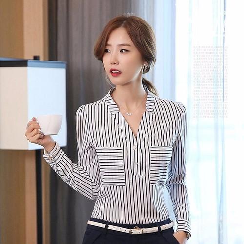 Áo sơ mi nữ công sở thời trang Hàn Quốc mới R162138 - 4166293 , 4963072 , 15_4963072 , 338000 , Ao-so-mi-nu-cong-so-thoi-trang-Han-Quoc-moi-R162138-15_4963072 , sendo.vn , Áo sơ mi nữ công sở thời trang Hàn Quốc mới R162138