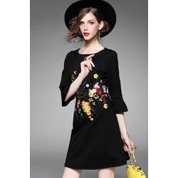 Đầm Suông Hoạ Tiết Thêu Thời Trang CAO CẤP A7002