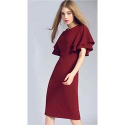 Đầm ôm cánh dơi , màu y hình