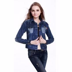 Áo Khoác Jeans Túi Wash Rách AK506