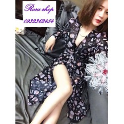 Áo khoác Voan Kimono dáng dài Rosaal42