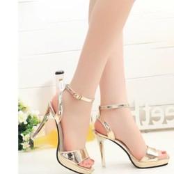 Giày cao gót ánh vàng