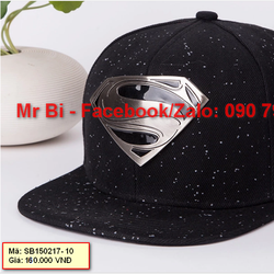Nón Snapback, nón Hiphop logo Superman cá tính, phong cách, hàng độc