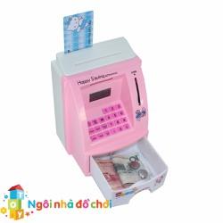 Mô hình máy rút tiền ATM Happy Bank hồng