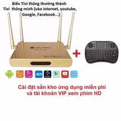 Bộ Android Tivi Box và Bàn Phím Kiêm Chuột Wireless