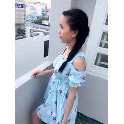 Đầm babydoll hoạ tiết